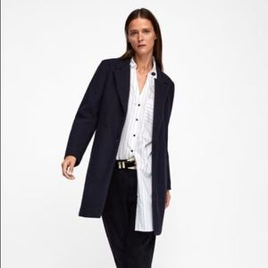 Zara straight cut coat